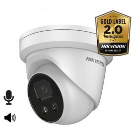 Hikvision Goldlabel 2.0 DS-2CD2326G2-ISU/SL 2MP 4mm speaker/licht EXIR dome mircofoon en speaker 30m IR WDR Ultra Low Light