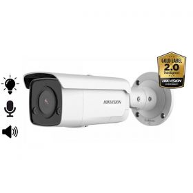 Hikvision Gold label 2.0 DS-2CD2T46G2-ISU/SL Acusense Fixed Lens 4MP Mask Detection Bullet 4mm 80m IR microfoon en speaker