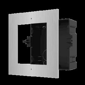 Hikvision DS-KD-AFC1/S modulaire intercom inbouwframe 1 module RVS