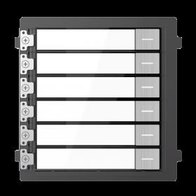 Hikvision DS-KD-KK/S modulaire intercom 6 beldrukkers RVS