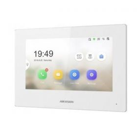 Hikvision DS-KH6320-WTE2-W 2-Draads Modulaire intercom binnenpost wit
