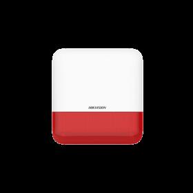 Hikvision DS-PS1-E-WE AxPro draadloze buitensirene - rode kap