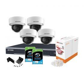 Hikvision Kit Compleet Camera's + NVR + HDD + kabel en accessoires