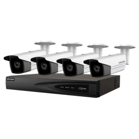 Hikvision Gold Label Kit met 4 stuks 5MP Bullet 4 kanaals PoE NVR