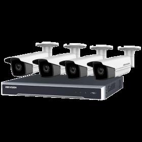Hikvision Kit met 4 stuks 6MP Bullet 8 kanaals PoE NVR