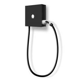 SMAPPEE EV WALL 22kW 3-PHASE 8M CABLE RIGHT - BLACK