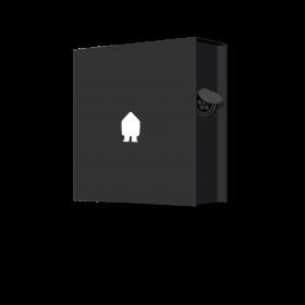 SMAPPEE EV WALL 22kW 3-PHASE BLACK - SOCKET RIGHT