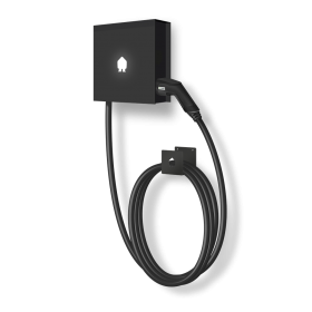 SMAPPEE EV WALL BUSINESS 22kW 3-PHASE 8M CABLE RIGHT - BLACK