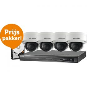 Hikvision Complete 2MP set inclusief harde schijf ip kit domes