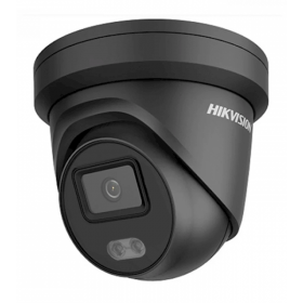Hikvision DS-2CD2347G1-LU 2.8MM BLACK ColorVu 4MP IP Turret 120dB WDR 2.8MM audio Zwart