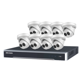 4MP gold Label Kit, 8 camera's en NVR